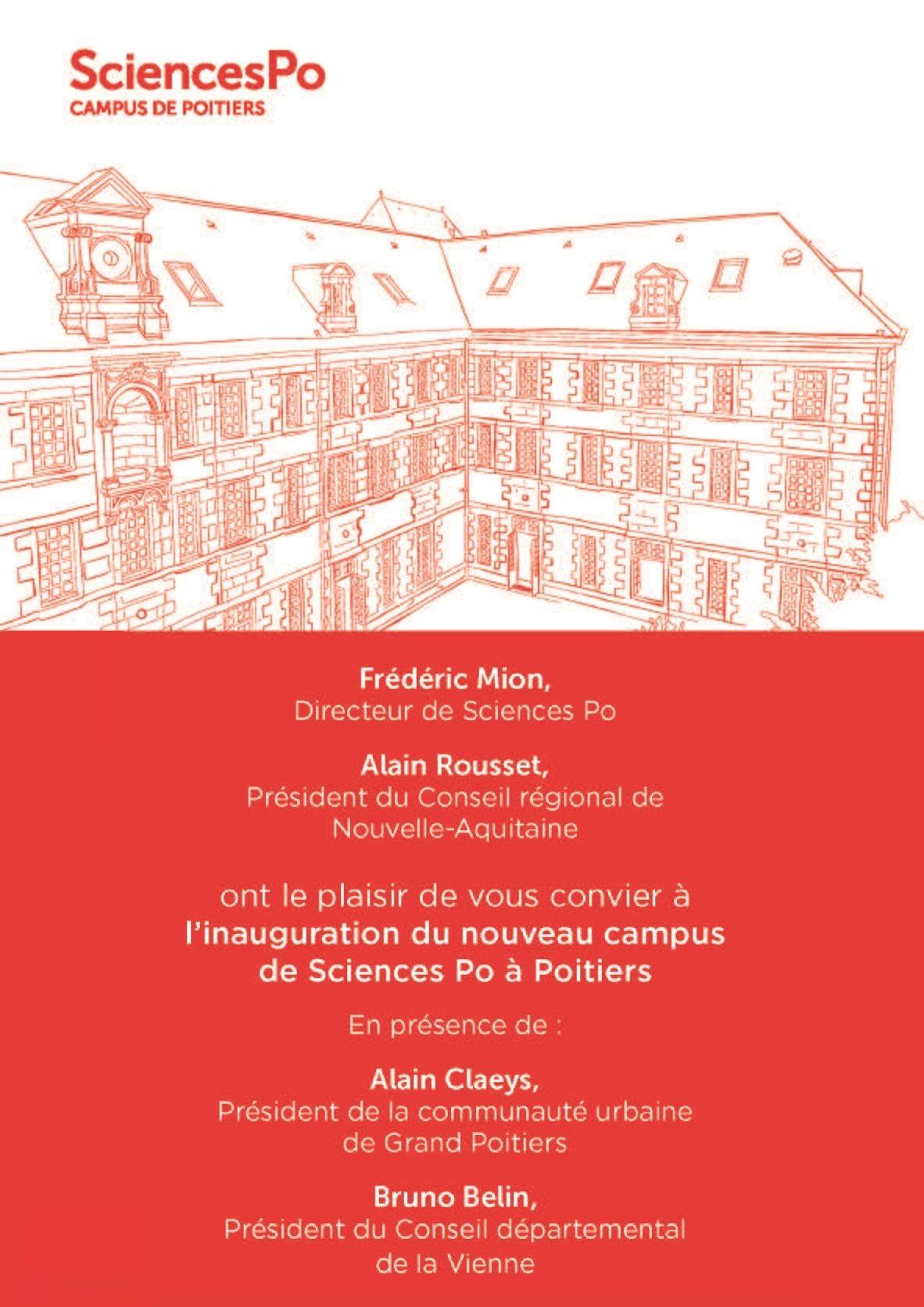 Sciences Po inaugure son nouveau campus de Poitiers