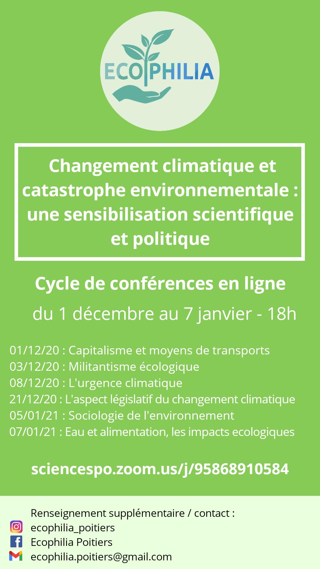 Cycle de conférences : Ecophilia